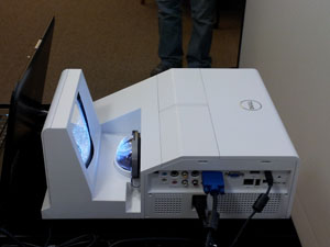 Closeup of ultra short throw projector for faculty/staff testing through Nov. 18, 2011