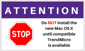 Attention. Do not install the new Mac OS X