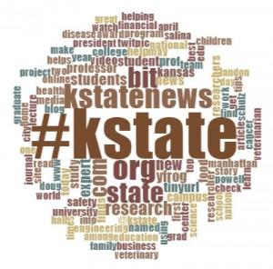 A Word Cloud of the @KStateNews Tweetstream