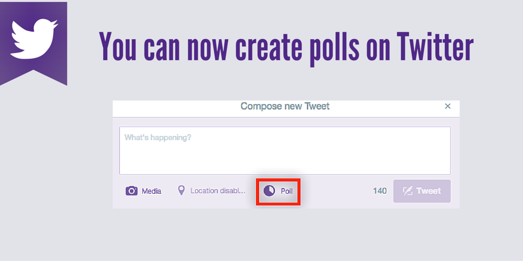 You can now create polls on Twitter