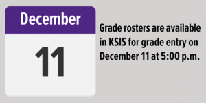 Grade rosters available Dec. 11