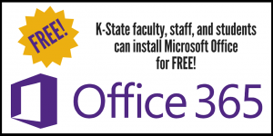 K-State faculty, staff, and students get Microsoft Office for free