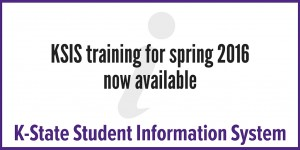 ksis training for spring 2016