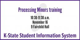 KSIS Processing Minors training
