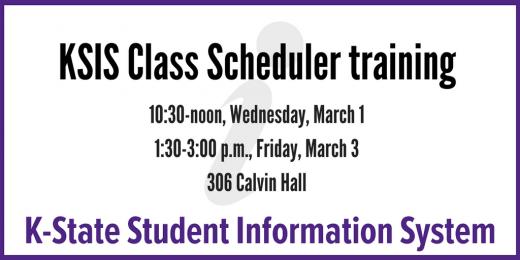 KSIS Class Scheduler training