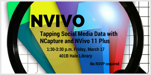 Tapping social media data with NCapture & NVivo 11