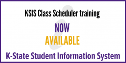 Class scheduler training now available