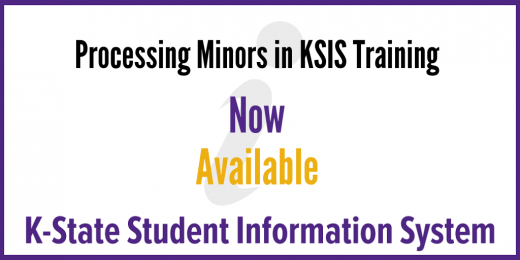 Processing Minors in KSIS Training Now Available