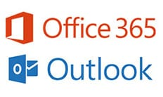 Office 365 and Outlook logos