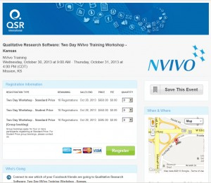 NVivo event registration site image and link