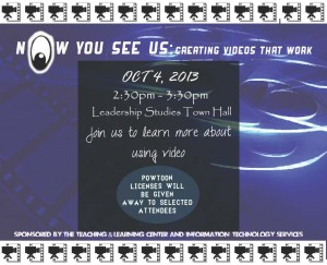 now you see us: creating videos that work flyer