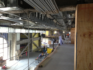 New wiring at the west side construction of Bill Snyder Family Stadium