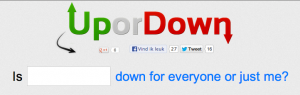 UporDown.org screenshot from homepage