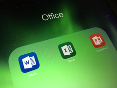 "Green ""Office"" graphic with Word, Excel, PowerPoint icons (created by iTAC staffer)"