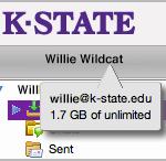Webmail inbox size