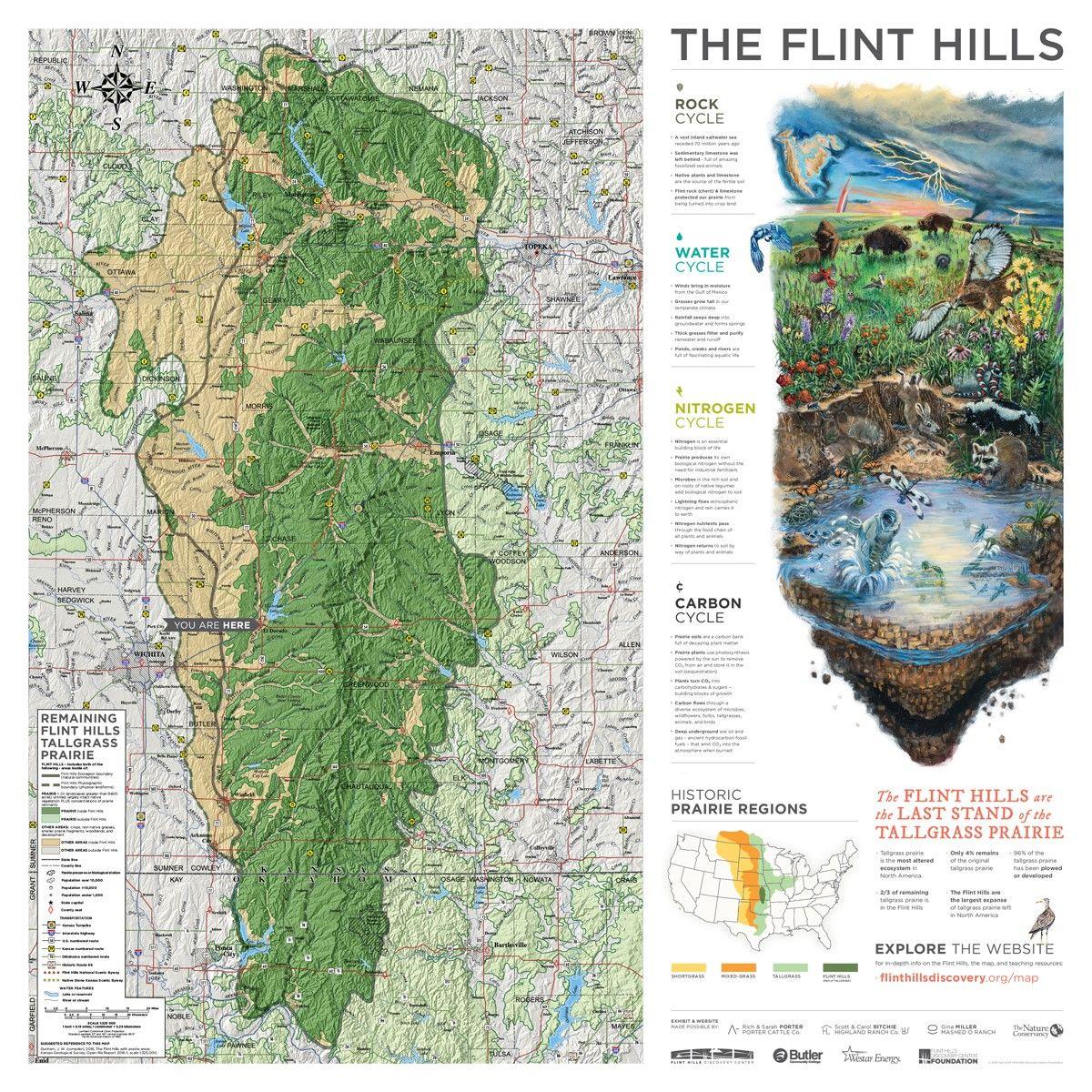 Flint Hills Kansas Map Kansas Profile – Now That's Rural: Flint Hills Map Project