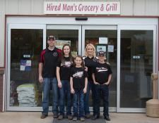 The Hired Man's Grocery & Grill in Conway Springs, Kan. is owned by the Clint & Jenny Osner family.