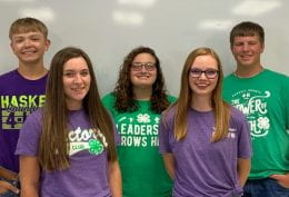 Dalton Winfrey, Bailey Briggs, Kara Kunselman, Ashley Kennedy, and Sean Wagner
