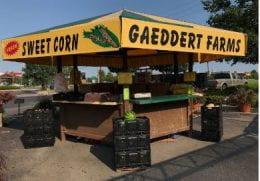 Gaeddert Farms Sweet Corn stand