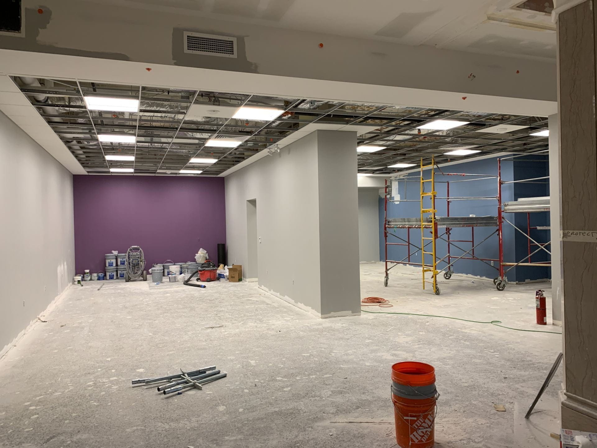 The graduate study rooms on the third floor are under construction.