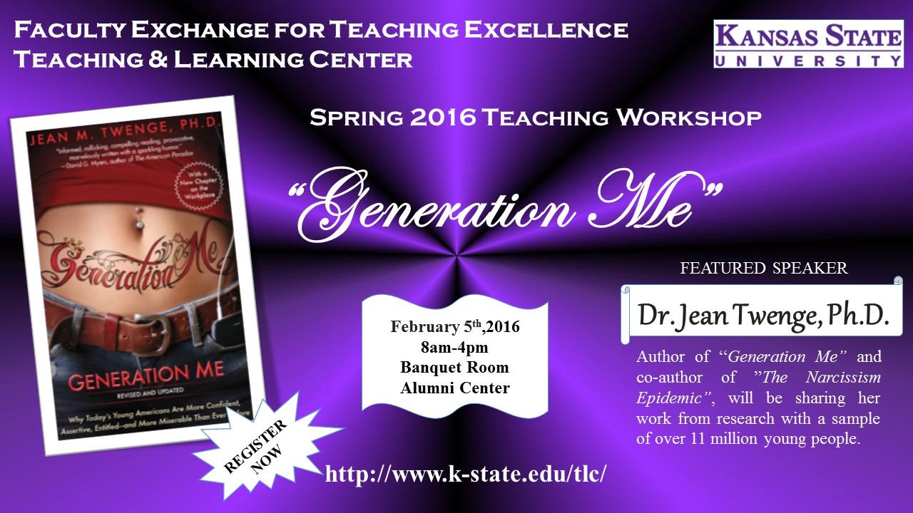 Generation Me flyer image