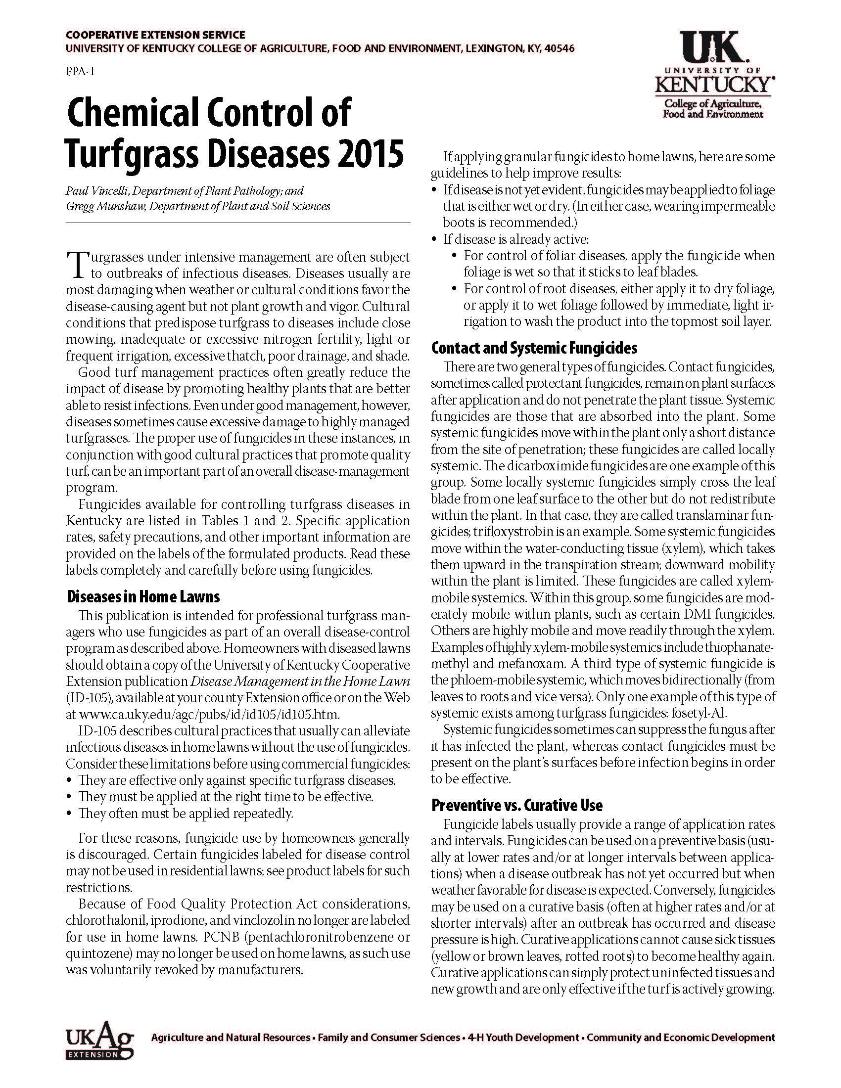 fungicides | K-State Turfgrass