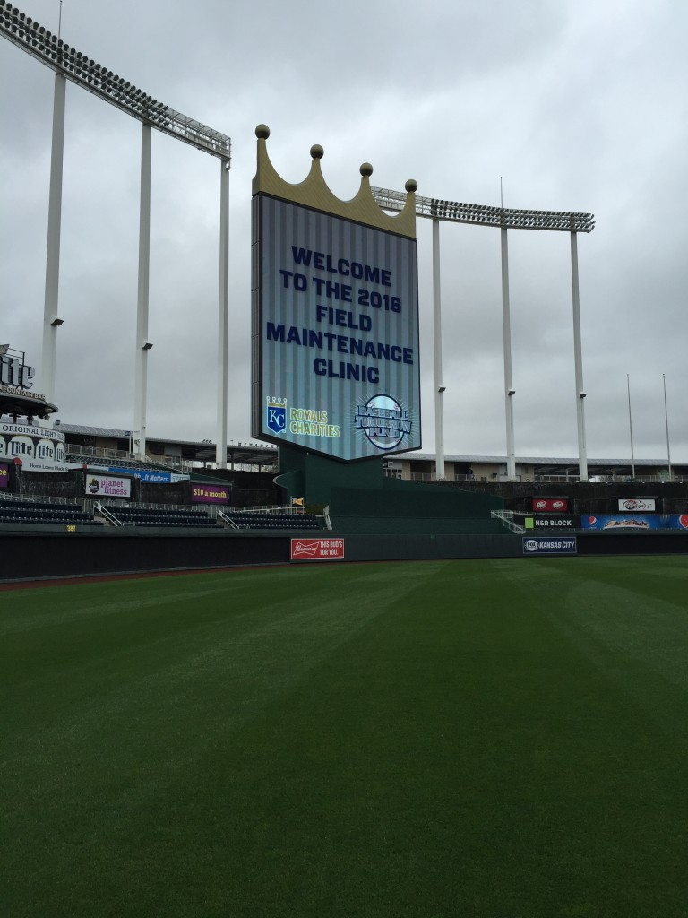 I had to throw this picture of Kauffman Stadium from the 2016 Sports Turf Managers Field Day!