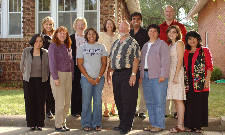 Leadership Studies Faculty/Staff Photo from 2004, featuring Mako Miller
