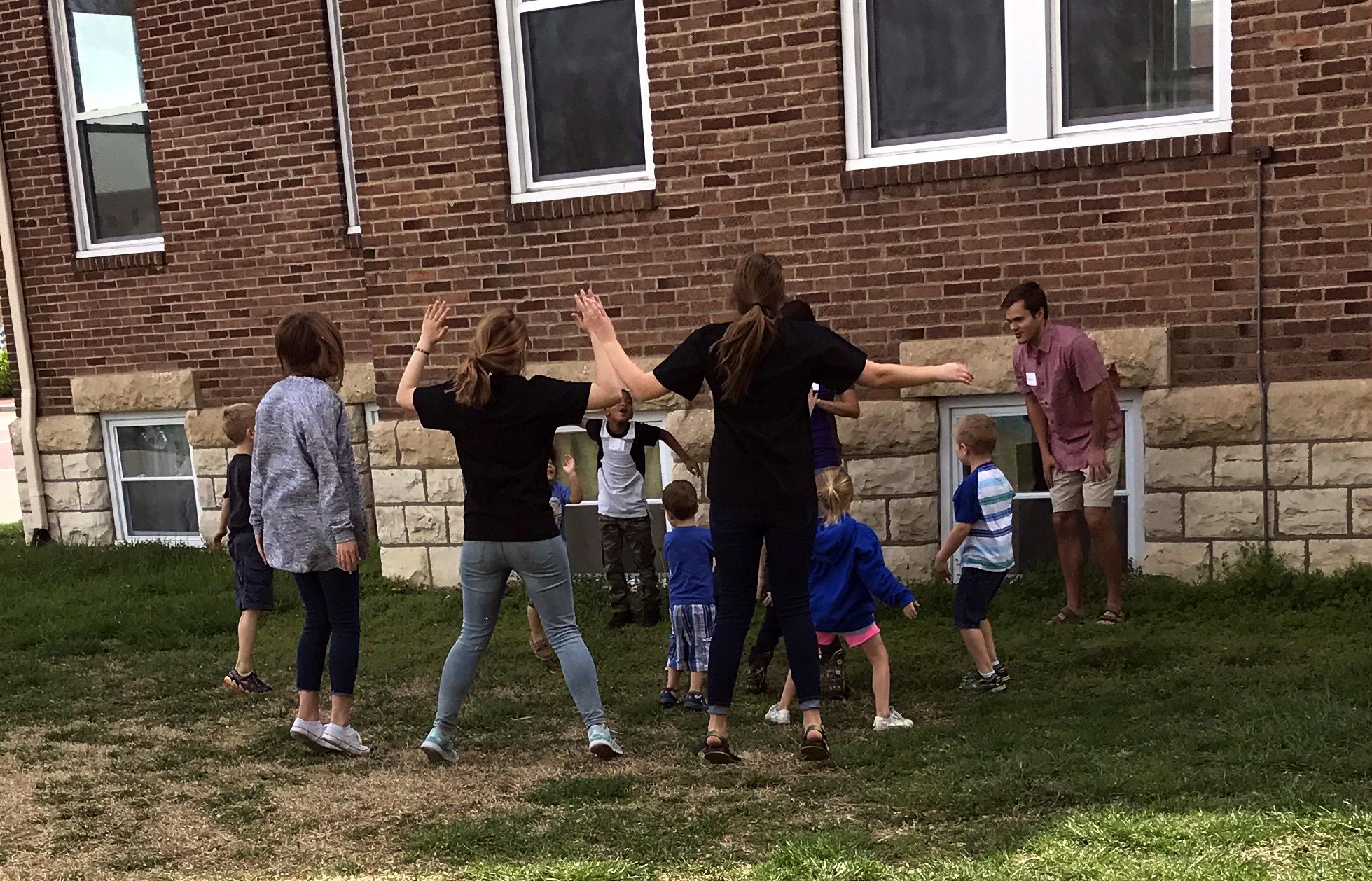 mentors guiding outdoor activities