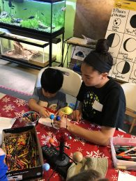 mentors leading STEM activities