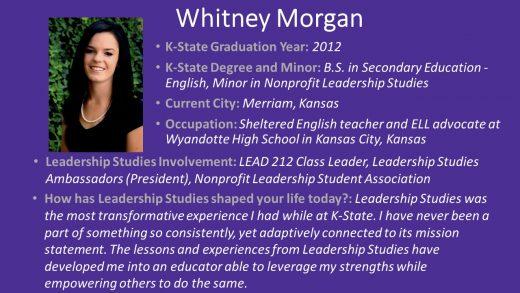 Background information on Whitney Davis Morgan