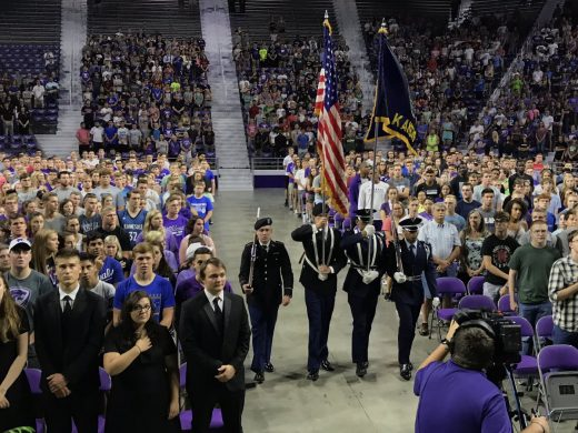 presenting the colors of our country at the 2017 convocation