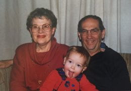 Anna as a baby with grandparents