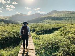 Anna on a hike