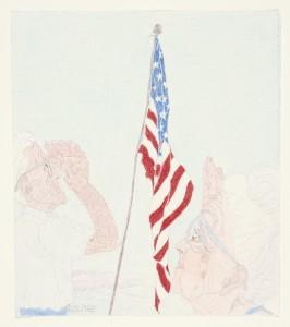 Elizabeth Layton Saluting the Flag, 1984