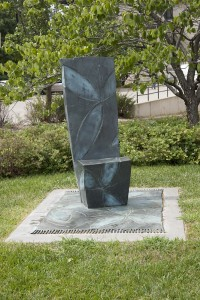 Wendell Castle, Mid-Summer, 2000 Bronze with patina KSU, Beach Museum of Art, purchased with funds provided by Nancy Benedict, Wayne Castle, and Wendell Castle in honor of Marvin Oliver Castle, class of 1931 and Bernice Decker Castle, class of 1931