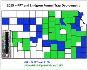 Lindgren funnel trap map for 2015