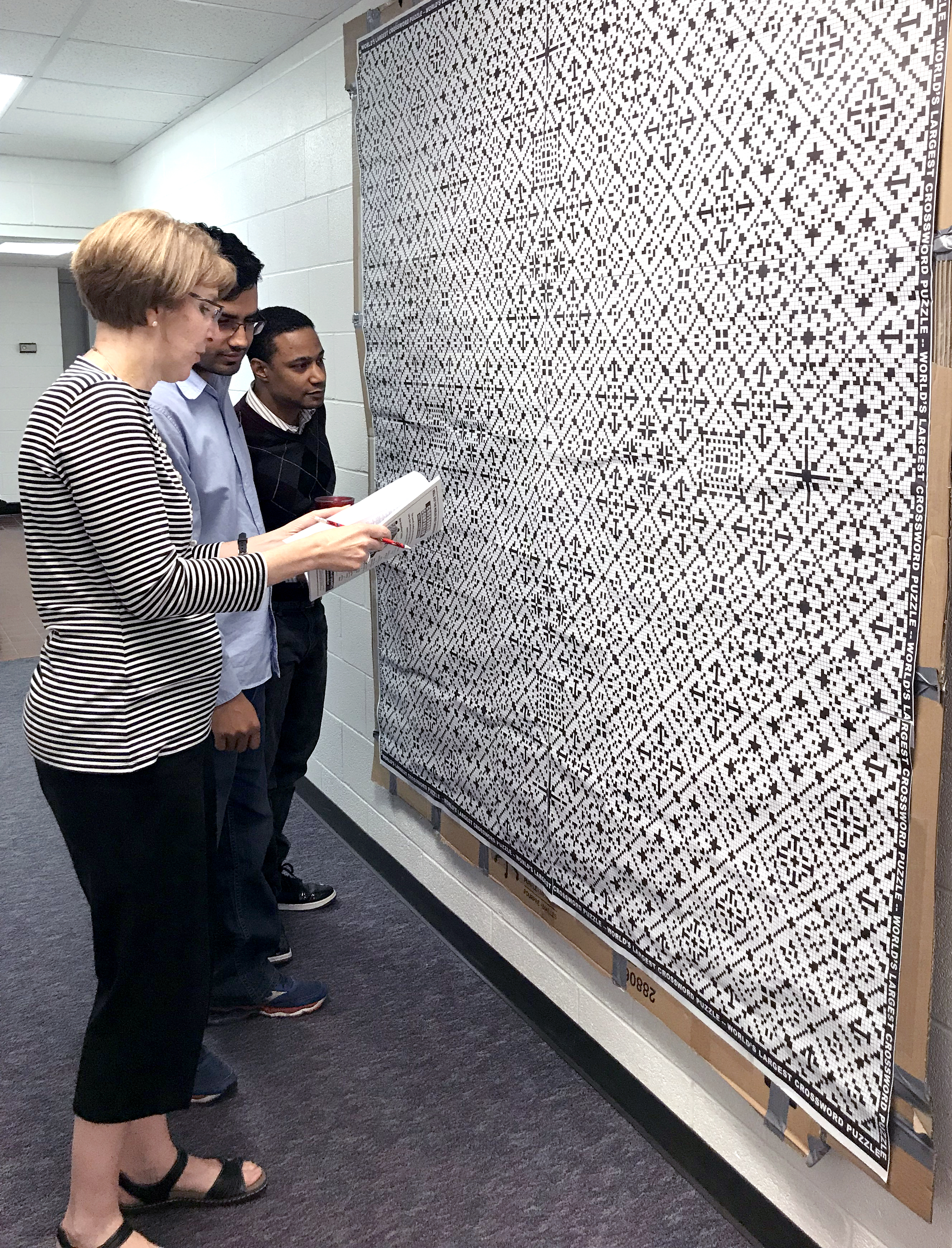 Giant Crossword Puzzle In Unger Complex Inside Its