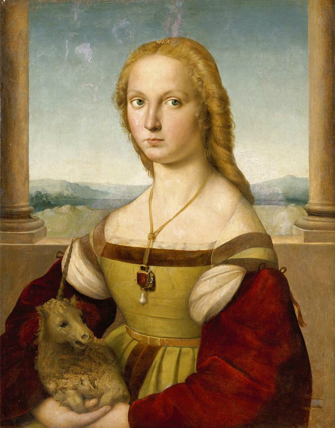Portrait of a Lady with a Unicorn by Raphael