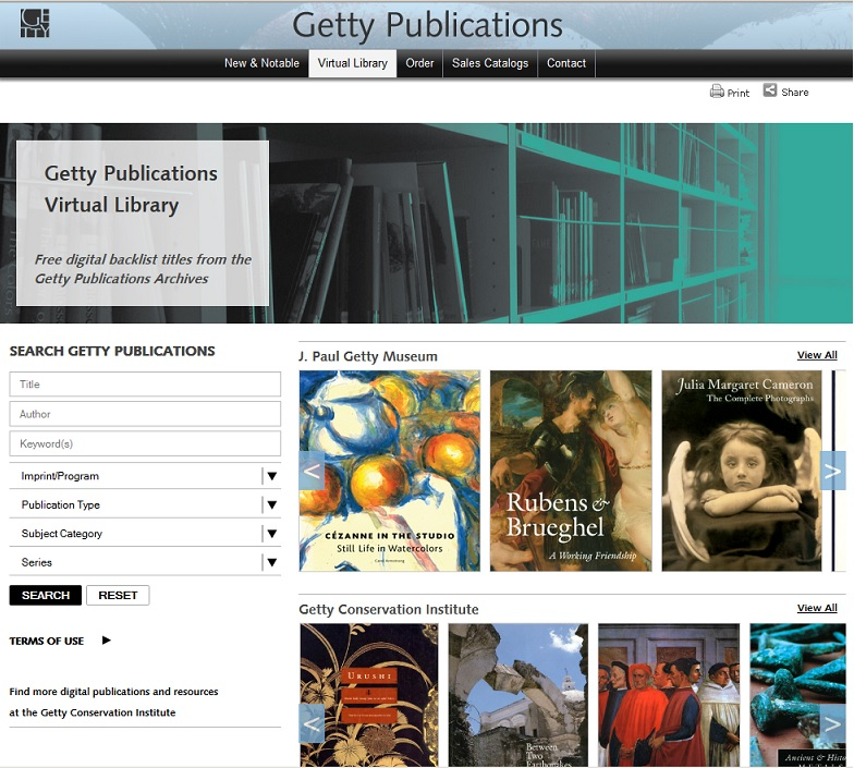 Getty Virtual Library