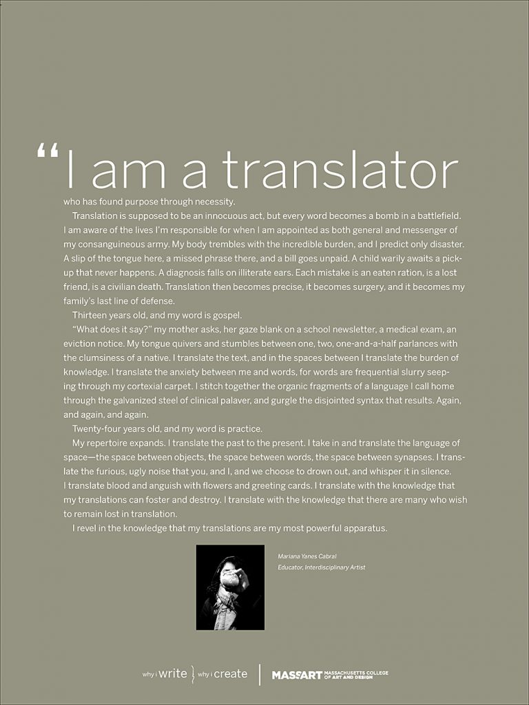 """I am a translator"""