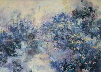 "Density Versus Emptiness 20-3, 2020, Acrylic/mixed media on canvas, 60""x30"""