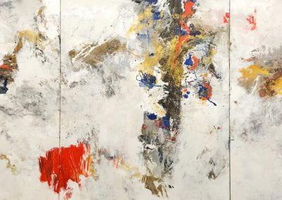 To Coexist, 2019, Acrylic on canvas, 6'x15'