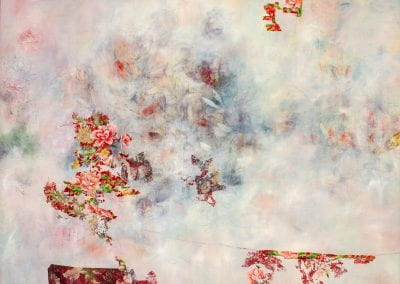 "Untitled, 2020, Acrylic/mixed media on canvas, 48""x35"""