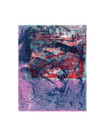 """Root 2, 2019, Collagraph on Hahnemühle paper, Paper, 20 ½"""" x 15 ¼"""", Image 9 ¾"""" x 12 ¼"""""""
