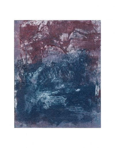 """Root 7, 2019, Collagraph on Hahnemühle paper, Paper 20 ½"""" x 15 ¼"""", Image 9 ¾"""" x 12 ¼"""""""