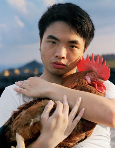 """Boy with Rooster, 2019, Archival Inkjet Print, 32""""x40"""""""