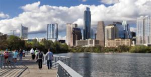 Austin-downtown by river