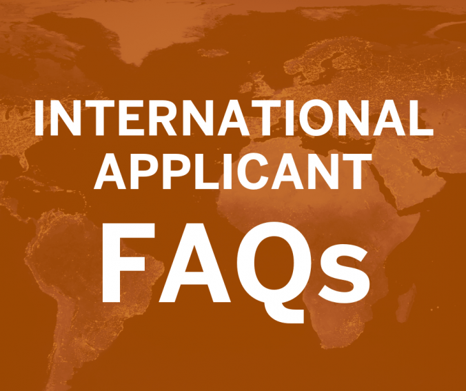 International Applicant FAQs