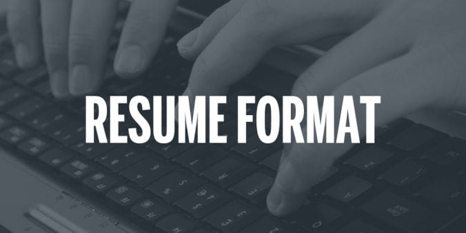Application Tip MPA Resume Format